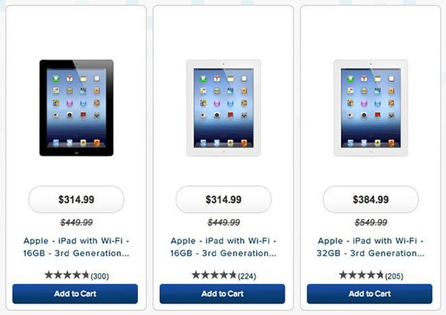 iPad 4 prices