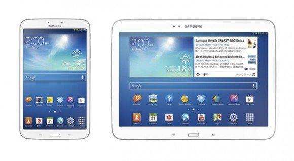 Samsung Galaxy Tab 3 с диагональю 8 и 10,1 дюймов