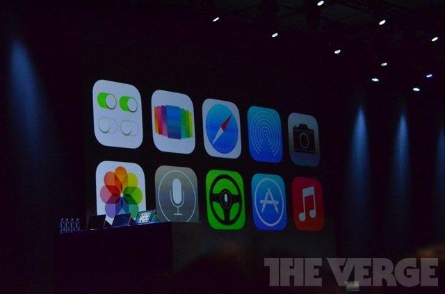 Иконки приложений в iOS 7 на WWDC 2013