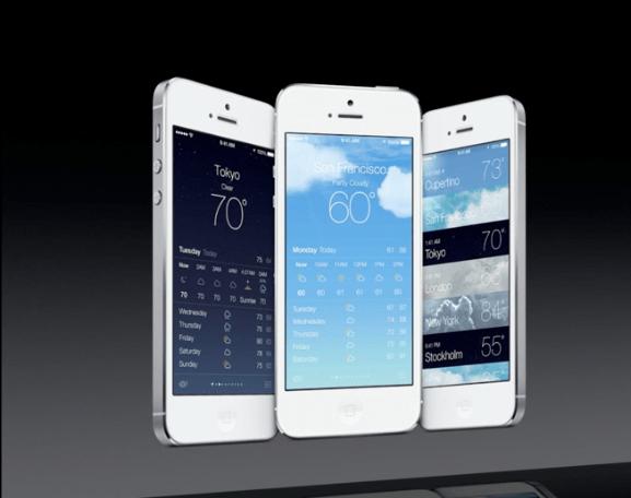 """Приложение """"Погода"""" в iOS 7 на WWDC 2013"""