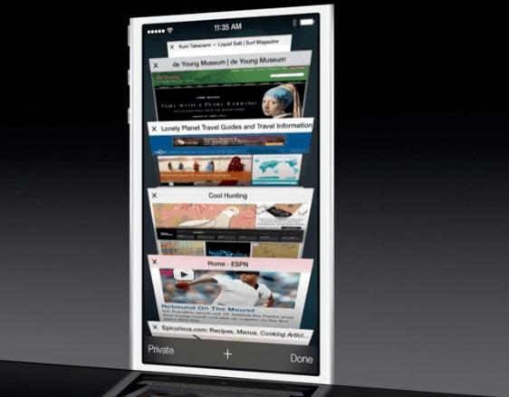 Apple Safari в iOS 7 на WWDC 2013