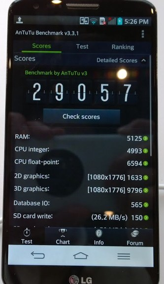 LG G2 в бенчмарке AnTuTu