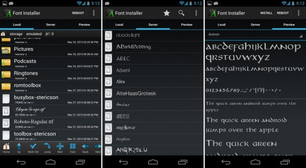 Font Installer Android