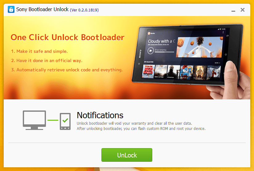 sony bootloader unlock