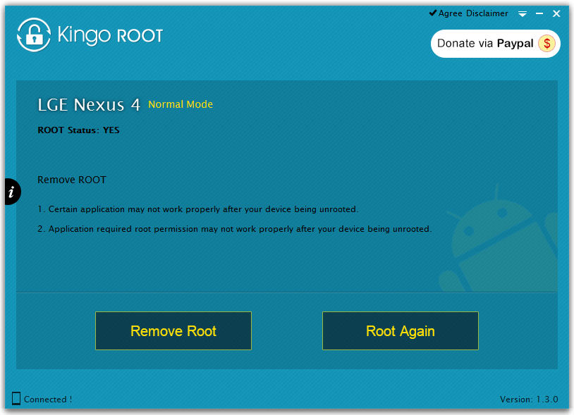 kingo root окно программы
