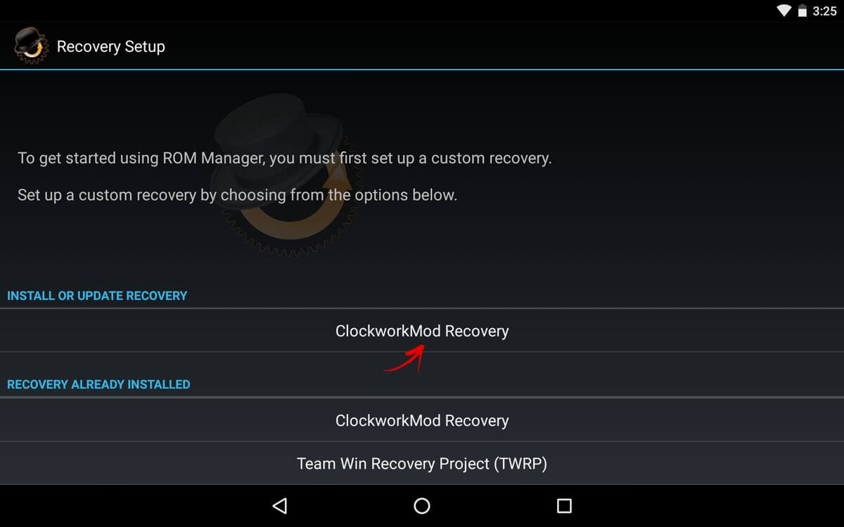 cwm recovery на android