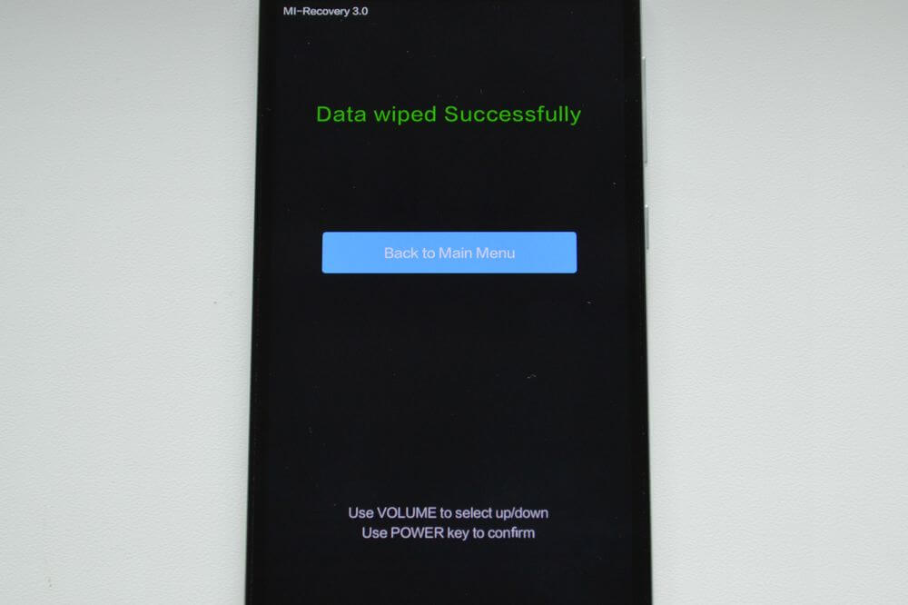 data wiped successfully