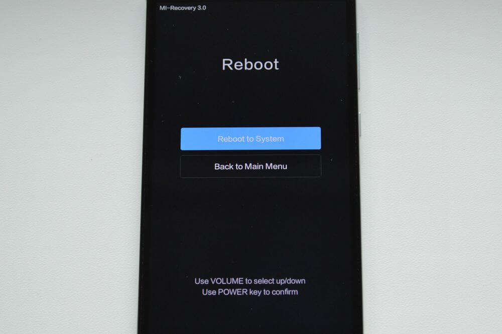 reboot to system xiaomi