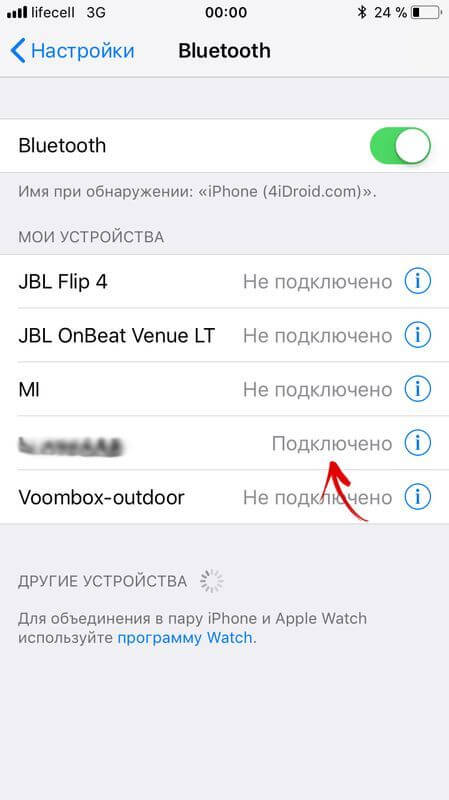 iphone подключен к компьютеру по bluetooth