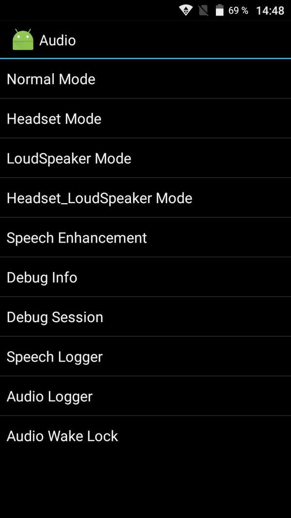 Audio MTK Engineering Mode