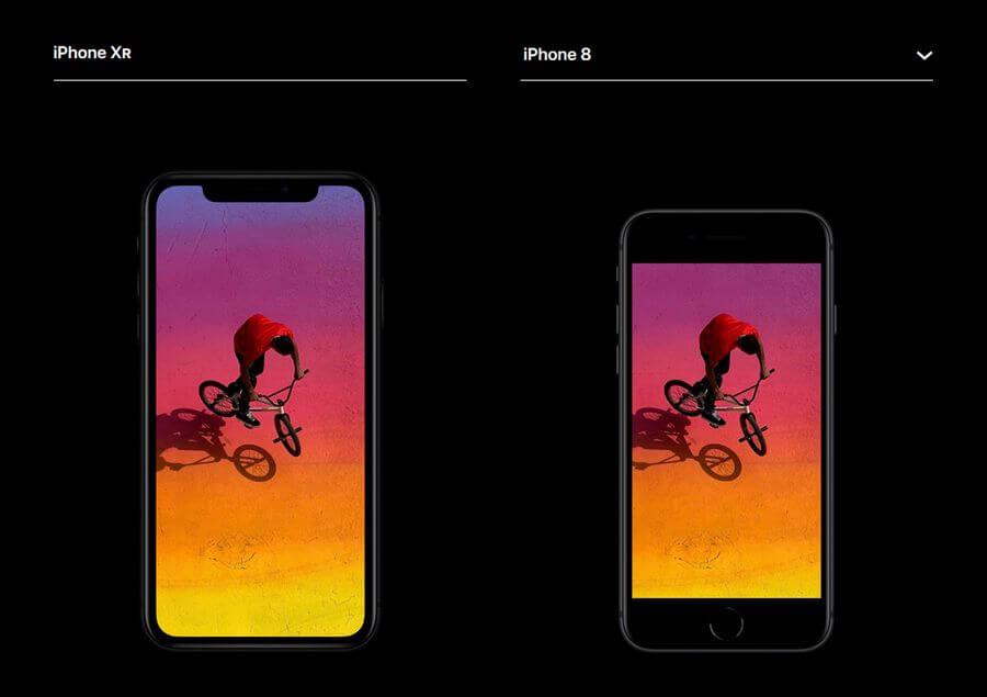iphone xr в сравнении с iphone 8