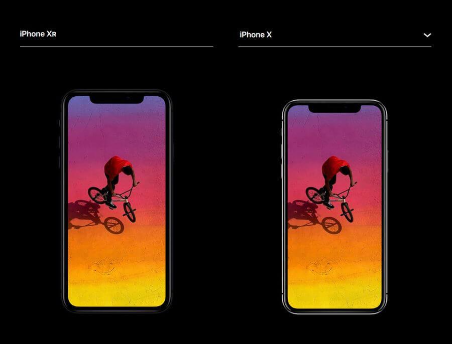 iphone xr в сравнении с iphone x