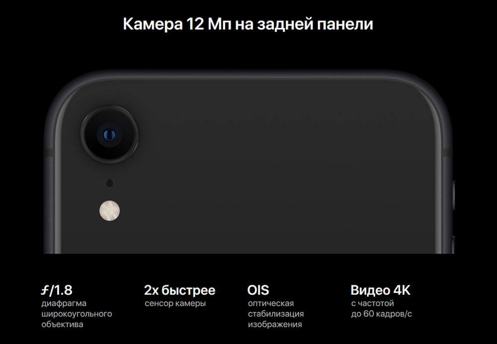 iphone xr основная камера