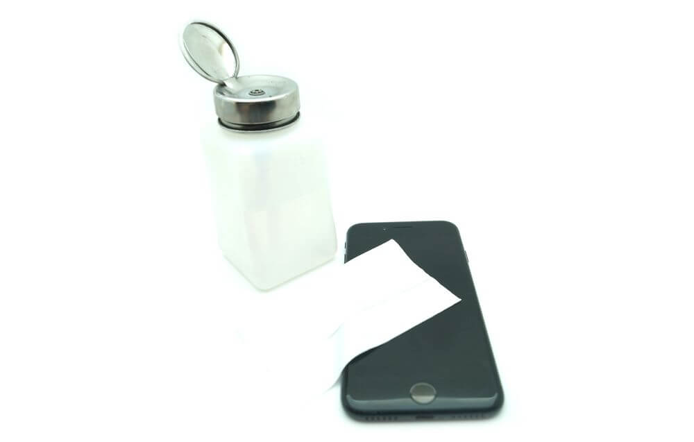 подготовка поверхности телефона