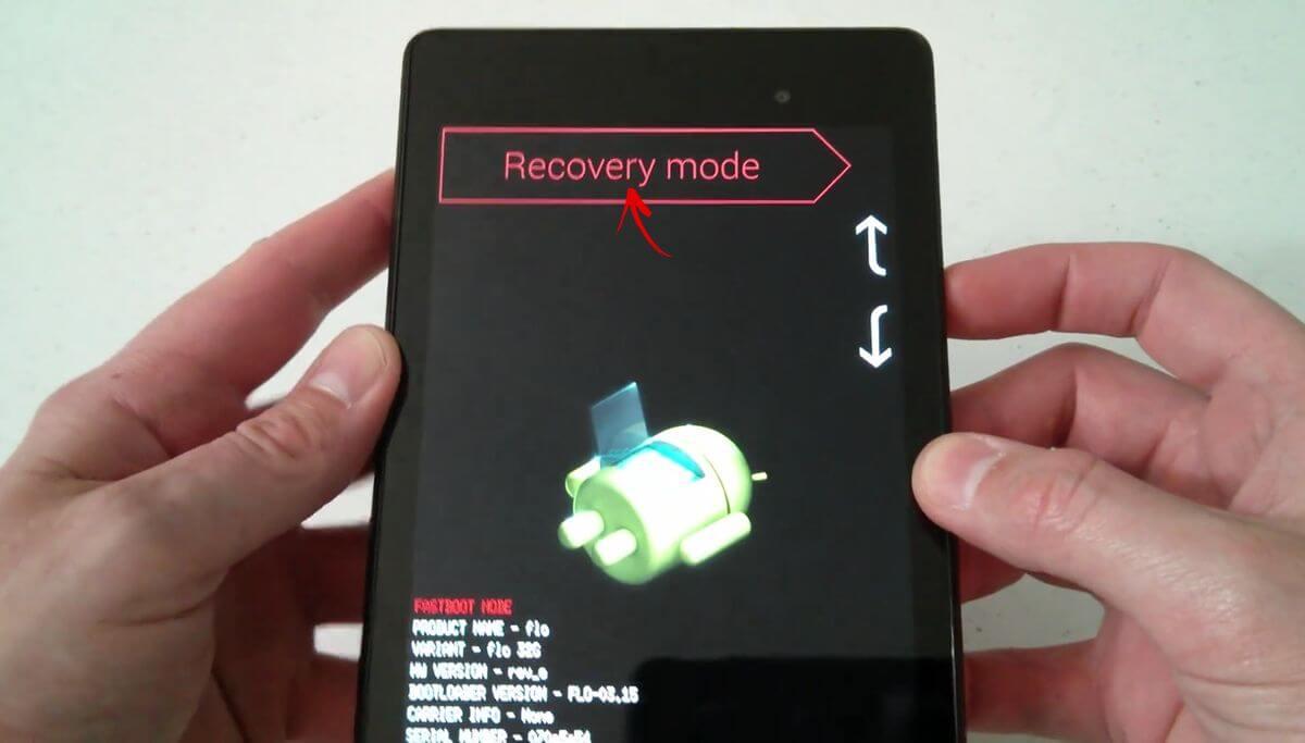 вход в recovery на google nexus