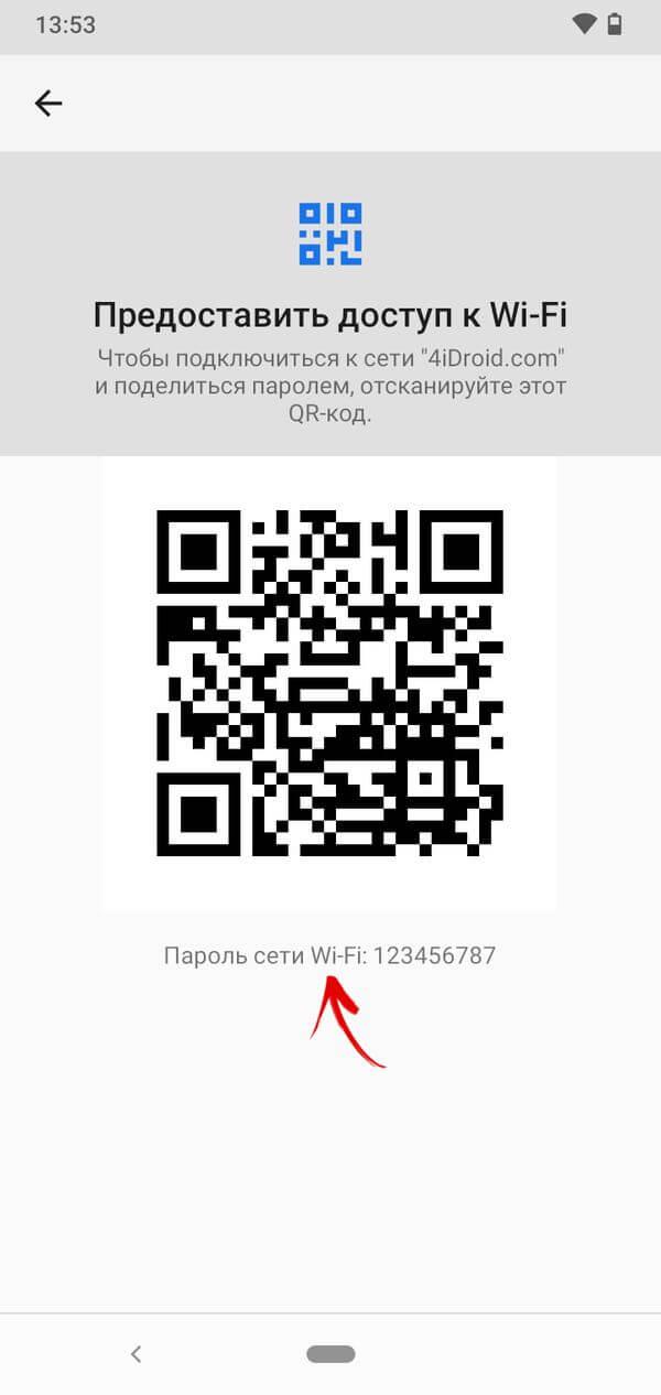 пароль от wifi в настройках на смартфоне с android 10