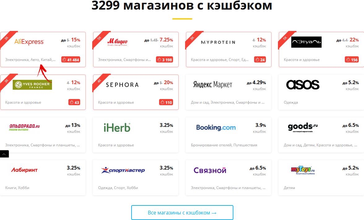 каталог магазинов на letyshops