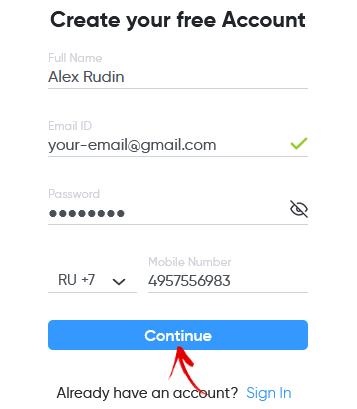 регистрация в invideo